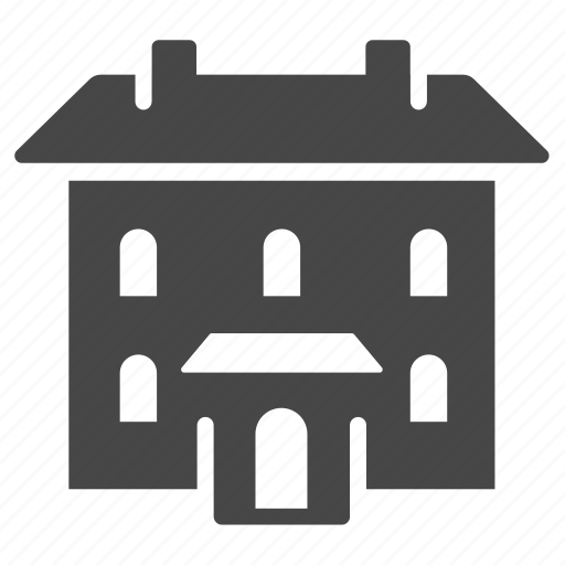 accommodation, building, estate, home, house, place, property icon