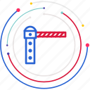 parking, barrier, checkpoint, stop, car icon