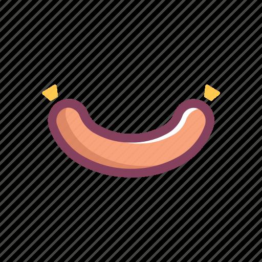 food, protein, salami, sausage icon