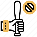 prohibited, prohibition, protest, violence, weapon icon