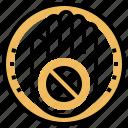 prohibited, prohibition, protest, stop, strike icon
