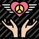 crime, heart, love, peace, protest