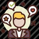 points, speach, candidate, politics icon