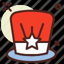 election, hat, politics, poll, vote icon