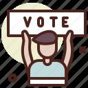 election, man, politics, poll, vote icon