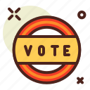 election, politics, poll, sticker, vote