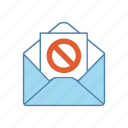 complaint, email, letter, mail, protest, protesting, stop sign icon