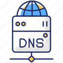 dns server, dns server icon, domain name, user request icon