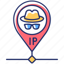 hidden ip, hidden ip icon, internet security, online privacy icon