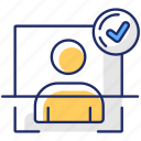 cybersecurity, internet safety, user authentication, user authentication icon icon