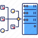information storage, resource server, resource server icon, virtual database icon