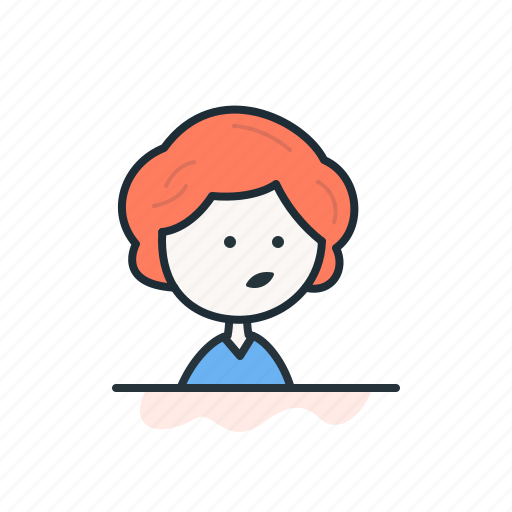 emoticon, face, female, girl, profile, user, woman icon