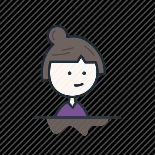 face, female, girl, profile, user, woman icon