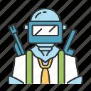gear, gun, headgear, helmet, military, protective, weapon icon