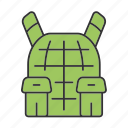 bulletproof, equipment, gear, protection, safety, vest, secure icon