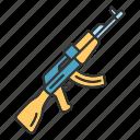 akm, battlegrounds, gun, shooting, weapon, military, war icon