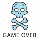 battlegrounds, end, over, skull, wasted, death, skeleton icon