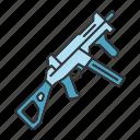 army, gun, rifle, shooting, ump, weapon, military icon