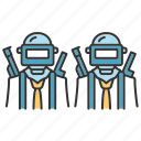 command, group, gun, helmet, multiplayer, team, weapon icon