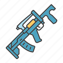 army, battle, groza, gun, war, weapon, military icon