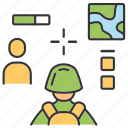 aim, cybersport, multiplayer, royale, soldier, warrior, target icon