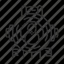 aim, bullseye, gun, shoot, shooting, target, weapon icon