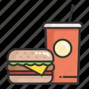 drink, fast, food, hamburger, place, soda