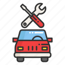 car, garage, place, repair, service icon