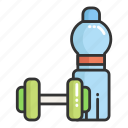 drink, dumbbell, fitness, gym, place, sport