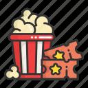 cinema, film, movie, place, popcorn, ticket