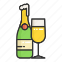 champagne, dinner, drink, place, restaurant, wine icon