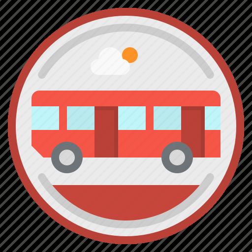 bus, city, station, transportation, urban icon