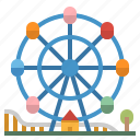 amusement, fairground, ferris, park, wheel icon
