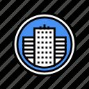 center, city, parking, police, public, business
