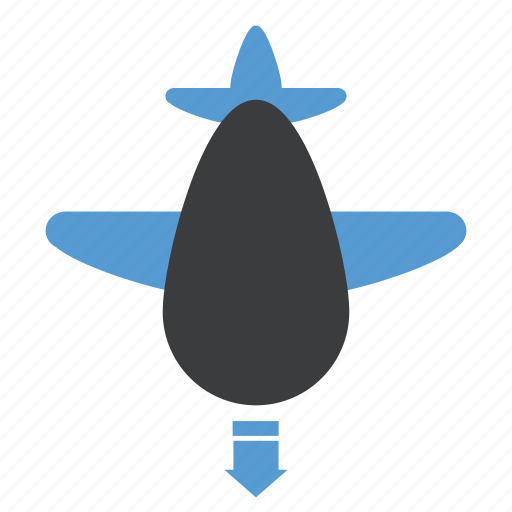 aeroplane, airport, arrival, flight, landing icon