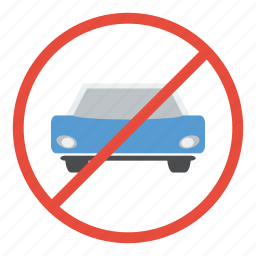 allowed, car, entry, not, prohibited, restricted, vehicle icon