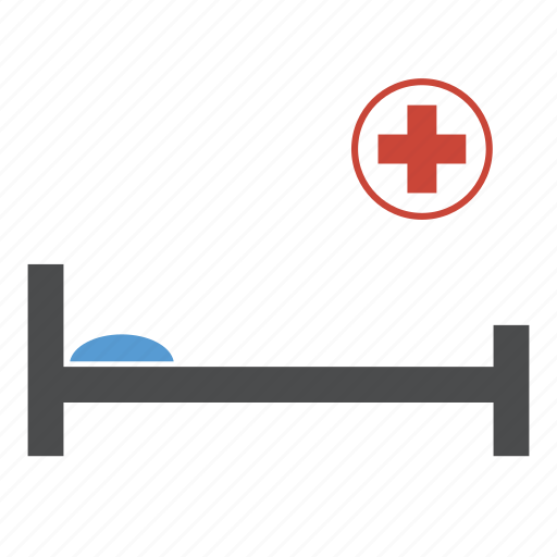 bed, clinic, emergency, healthcare, hospital, medical, treatment icon