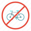 cycle, forbidden, no, notallowed, prohibited, restricted icon