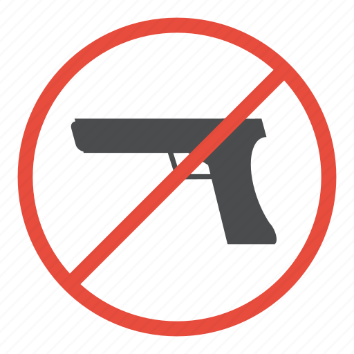 forbidden, gun, no, no fire zone, prohibited, warning, weapons icon