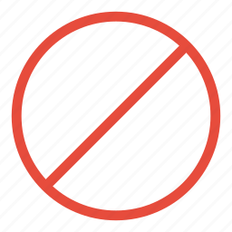 allowed, forbidden, not, prohibited, restricted, sign, warning icon