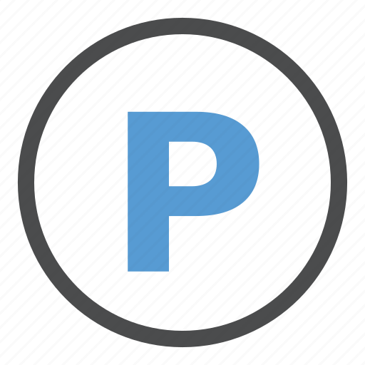 car, lot, parking, sign, space icon