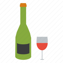 bar, dinner, drink, lounge, red, romance, wine icon