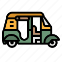 rickshaw, tourism, transportation, travel, tuktuk icon
