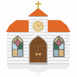 building, christian, church, house, public, religion icon
