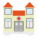 building, help, hospital, house, medicine, public icon