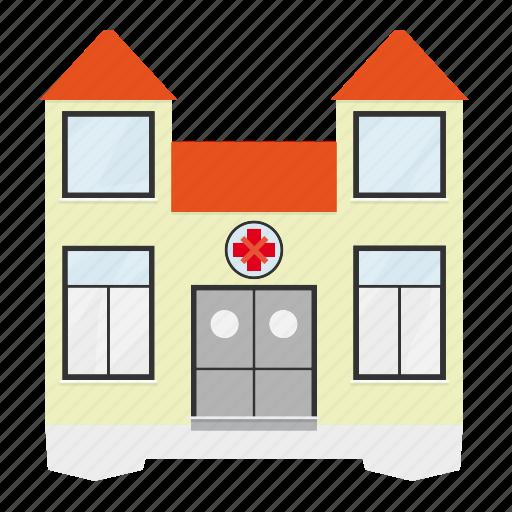 building, help, hospital, house, medicine, public icon