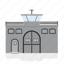 building, government, house, jail, law, public, security icon