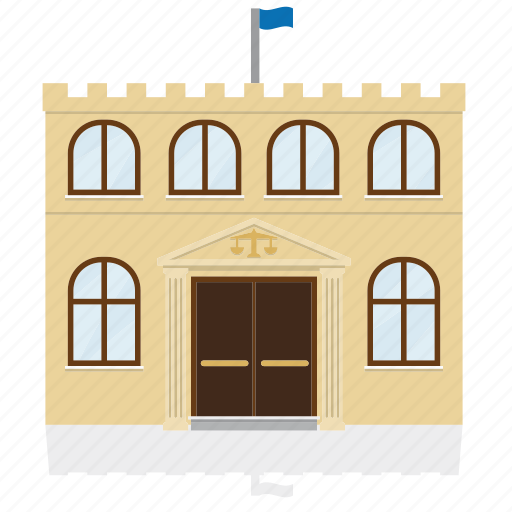 building, court, government, house, justice, law, public icon