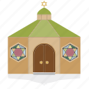 building, house, jewish, public, religion, synagogue icon
