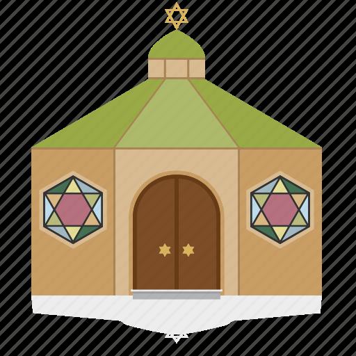 building, house, jewish, public, religion, synagogue icon